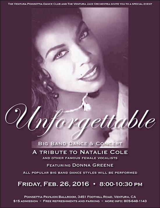 Natalie Cole Tribute Big Band Dance featuring Donna Greene