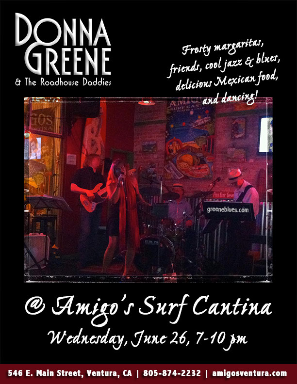 Blues at Amigos with Donna Greene & The Roadhouse Daddies!