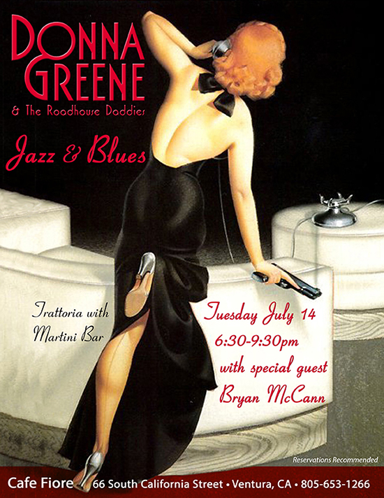 Donna Greene & The Roadhouse Daddies at Cafe Fiore July 14, 2015