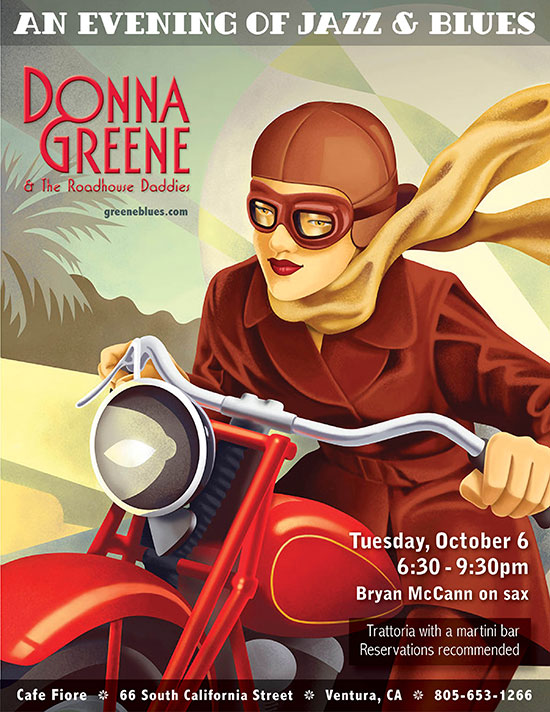 Donna Greene at Cafe Fiore