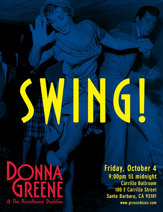 Donna Greene and The Roadhouse Daddies show at the Friday Night Swing Dance, Carrillo Rec Center