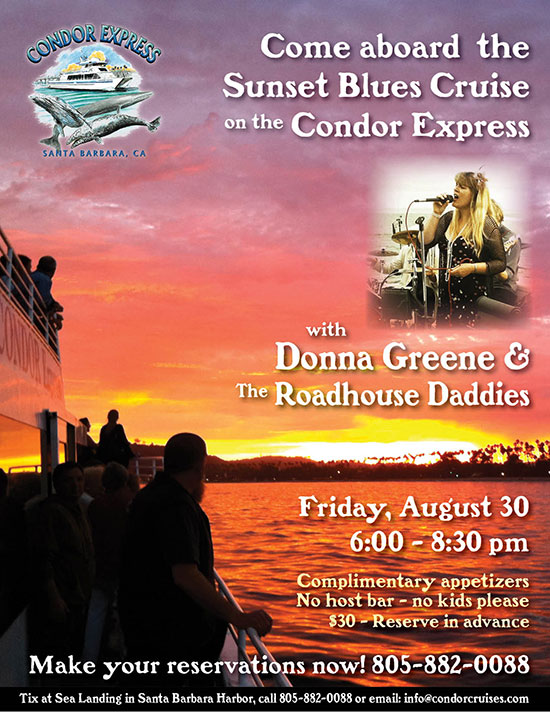 Donna Greene & The Roadhouse Daddies on the Condor Express Sunset Cruise