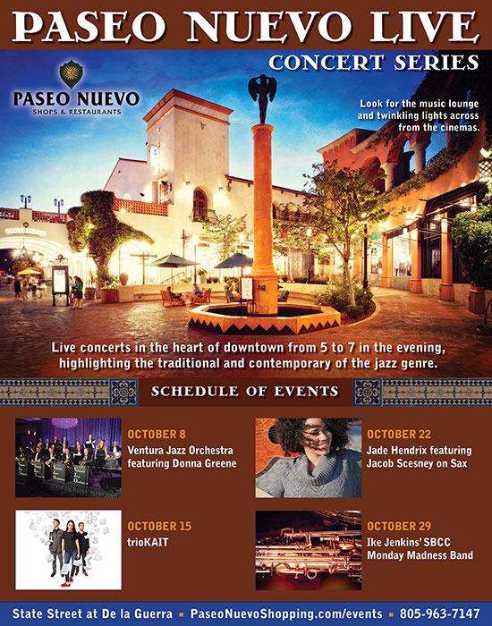 Ventura Jazz Orchestra at Paseo Nuevo LIVE Concert Series with Donna Greene
