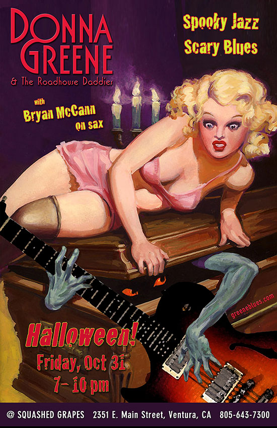 Halloween with Donna Greene & The Roadhouse Daddies at Squashed Grapes