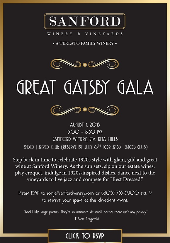 Great Gatsby Event at Sanford Winery